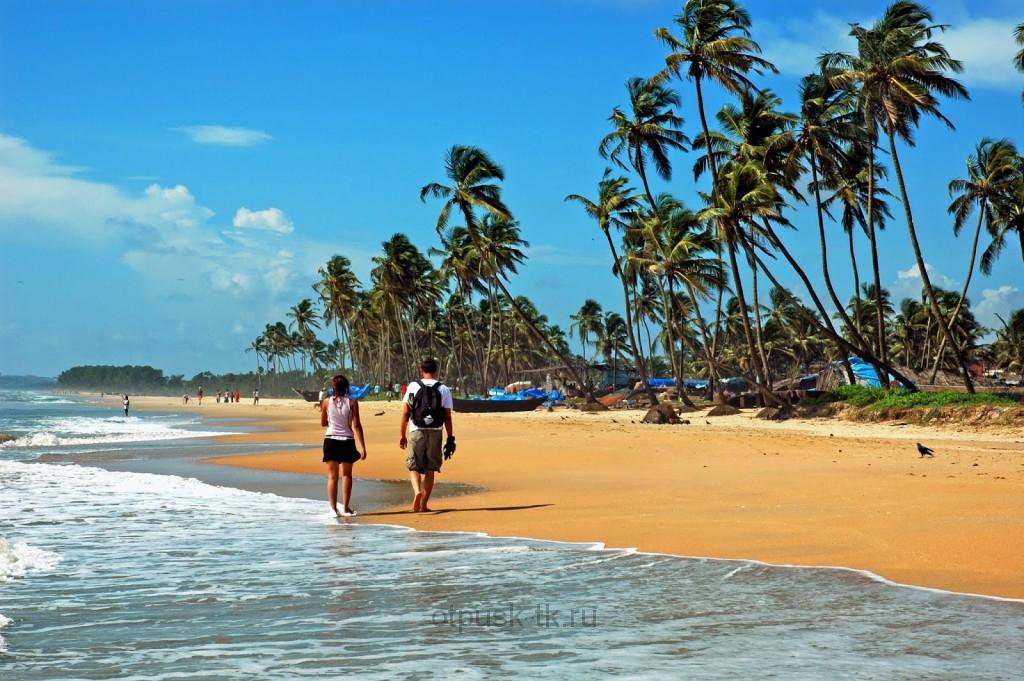 Пляж в Гоа в январе