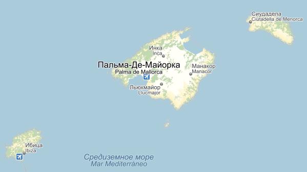 Карта курортов Испании на русском языке, курорты Испании на карте