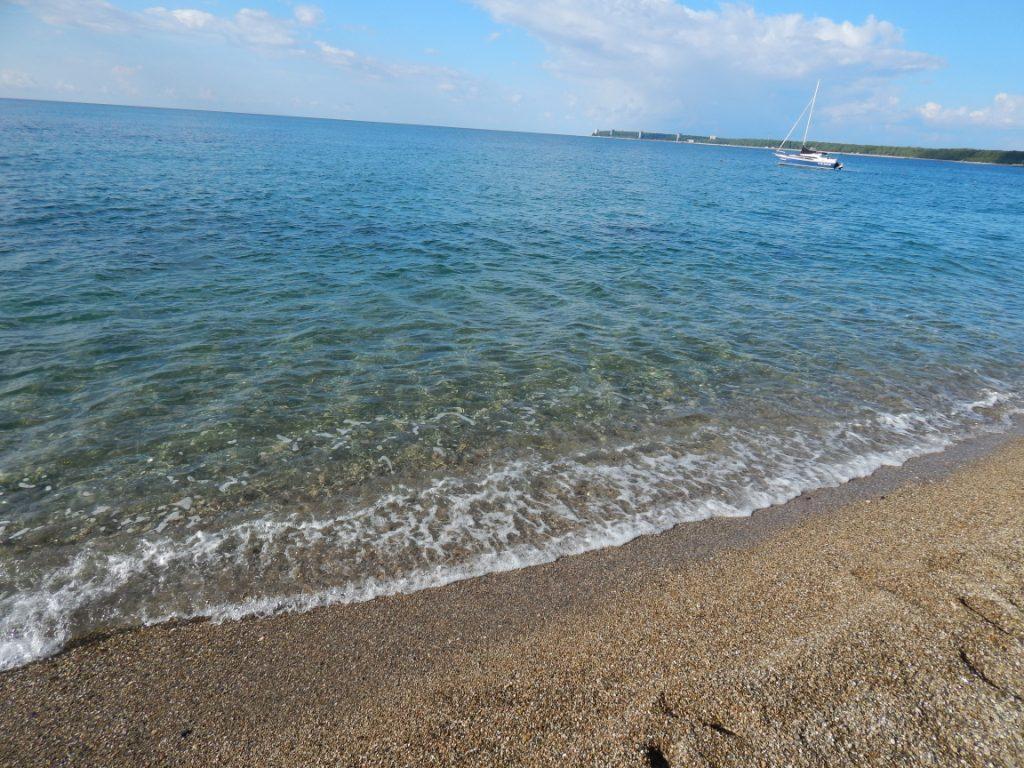 Чистое море в Пицунде